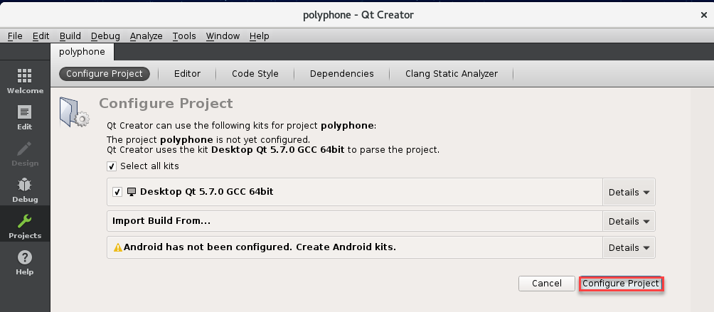 Using Qt Creator to build Polyphone - Polyphone Soundfont Editor