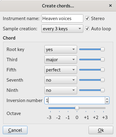 tool for creating chords