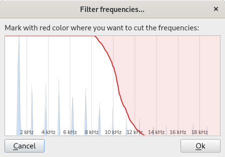 Filter frequency tool