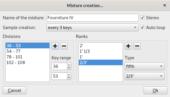 mixture creation tool